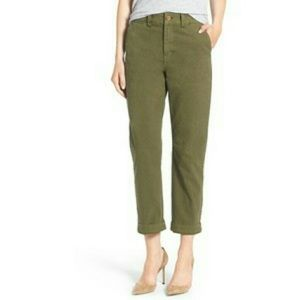 Madewell Olive Straight Chino Pants Size 6